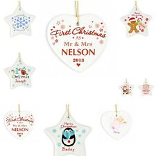 Personalised Christmas Tree Hanging Decorations Xmas Gift Bauble Alternative