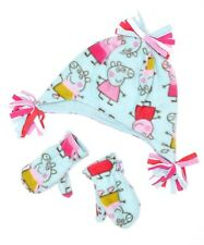 NEW  PEPPA PIG HAT AND MITTENS SET AGE 1-2 3-6 YEARS