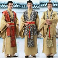 Chinese Red/Yellow Man Han Clothing Emperor Prince Show Cosplay Suit Robe Costum