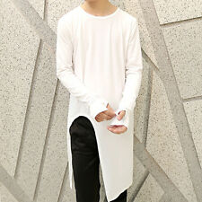 Fashion Men's Edge Triangle Cut Design Vintage Korean Fashion Gloves T-shirt Tee