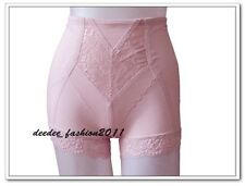 Mid Waist Magic Brief Girdle Pink Smooth Thin Shapewear Lace Body Shapers S-L