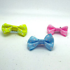 Cute Pet Hair Clip Colourful Ribbon Bow Dog Cat Puppy Grooming Accessory 3 For 2