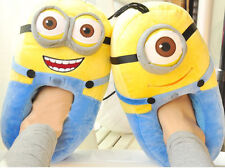 Unisex Despicable Me Funny Minions Plush Soft Adult Novelty House Slippers Shoes