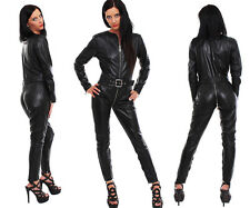 Genuine leather catsuit suit overalls 3 way zipper - Made to measure all sizes