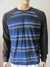 New LUCKY BRAND Mens Blue Striped Casual Colorblock Raglan Crew Tee Shirt $49