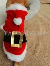 Pet Puppy Dog Christmas Santa Claus Style Costume Outfit Clothing Coat Appar MUK