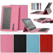 "Removable Bluetooth Keyboard Leather Case Cover For 9.7"" 10.1"" 10.5"" inch Tablet"