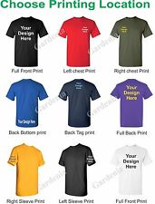 72 CUSTOM SCREEN PRINTED COLORS T-SHIRTS WITH YOUR CUSTOM LOGO OR DESIGN