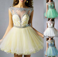 Lace Short/Mini Prom Evening Homecoming Dress Cocktail Party Ball Gown Size 6-16