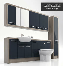 ANTHRACITE / DRIFTWOOD BATHROOM FITTED FURNITURE 2100MM