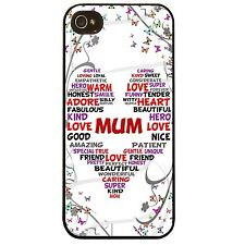 Cover for Iphone 5 5S Mum love heart words pretty collage mothers day phone case