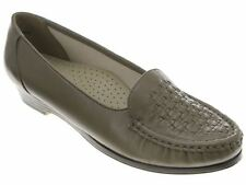 NIB SOFTSPOTS CONSTANCE LEATHER COMFORT/NURSING LOAFERS SHOES TAUPE BLACK BROWN