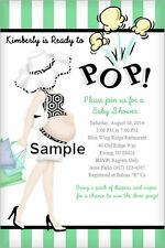 Baby Shower Invitations with envelopes, 15  PERSONALIZED  with ready To Pop!