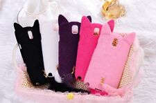 Cute Fox Cat Ears Tail Soft Plush Case Cover For Samsung GALAXY Note 2/3 S3/S4