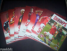 2014/15 - MORECAMBE HOME PROGRAMMES CHOOSE FROM