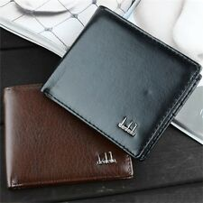 Men Boy Soft Black Leather Wallet Bifold Credit Card Holder Purse Clutch Pockets