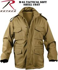 Coyote Brown Military Police Soft Shell Tactical M-65 Field Jacket Coat 5244