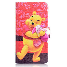 2014 Hot sale Winnie the Pooh Tigger PU leather Flip case cover for Samsung 20