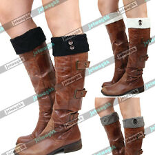 Knit Button Boot toppers Cuffs Socks leg Warmers Cozy Vintage