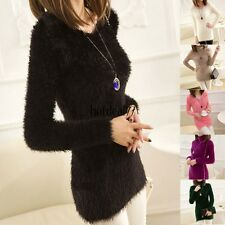 Hot Women Casual Long Sleeve Knitted Pullover Loose Sweater Knitwear Jumper Tops