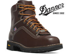 "Danner Quarry USA 6"" Plain Toe Brown Work Boots - 17301 - All Sizes Available"