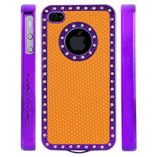 Apple iPhone 5 5S Gem Crystal Rhinestone Orange Diamond Rubber case