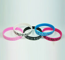 Fashion funky cool MUSIC NOTES silicone rubber wristbands wrist bands bracelets