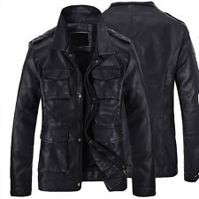 2014 new fashion men's leather motorcycle coats jackets washed leather overcoat