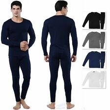 Men's Ultra-Soft Fleece Lined Thermal Top & Bottom Long John Underwear Set