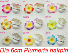 10 pcs 9 colors  Hawaiian Plumeria Foam Hair Accessory Flower Hairpin Hair Clip