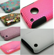 MIXED FASHION PROTECTOR RUBBER HARD CASE COVER FOR IPHONE 3G 3GS PHONE
