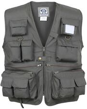 Olive Drab Green Uncle MiltysTravel Multi-Pocket Fishing & Photography Vest 7540