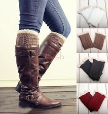 5 Colors Lady's Crochet Knitted Lace Trim Boot Cuffs Toppers Leg Warmers Socks