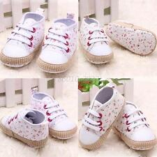 0-12M Fashion Infant Toddler Baby Girl Sneakers Soft Sole Walking Crib Shoes B19