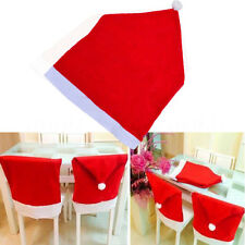 Lovely Christmas Decorations Santa Hat Chair Covers Dinner Chair Xmas Cap Sets
