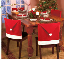 Love Santa Hat Christmas Decorations Chair Covers Dinner Decor Chair Set 60x50cm
