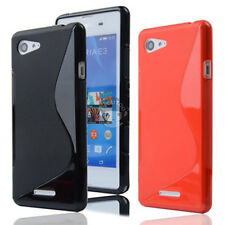 Soft S Line Skin Cover TPU Silicone Case For Sony Xperia E3 D2202 D2203 D2206
