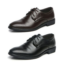Solid Ovelgem Men's Business Dress Oxford Leather Shoes Lace Up Cap-Toe Shoes