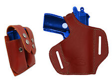 NEW Barsony Burgundy Leather Pancake Gun Holster + Mag Pouch Makarov, FEG 22 25