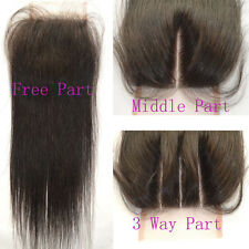 Virgin unprocess Malaysia hair lace top closure straight 3.5x4 bleached knots