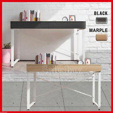 Study Desk Student Office Computer 2 Drawer Cabinet Steel frame Black & Marple