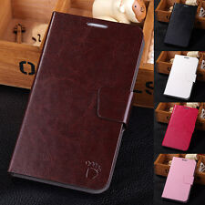 For Samsung Galaxy Note 2 II N7100 Luxury Leather Case Flip Stand Wallet Cover
