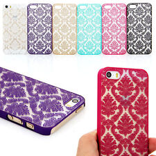 Vintage Rubberized Damask Pattern Matte Hard Case Cover For iPhone 6 6 Plus 5 5S