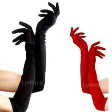 Long Satin Glove Opera Wedding Bridal Evening Party Prom Costume Glove Cosplay