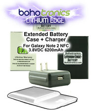 Samsung Galaxy Note 2 II N7100 Extended NFC Battery Wall Charger for EB595675L