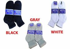 3, 6, or 12 Pairs Diabetic ANKLE circulatory Socks Health Men's Cotton ALL SIZE