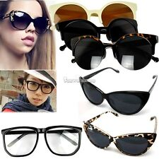 Women Classic Retro Cat Eye Designer Fashion Shades Black Frame Sunglasses