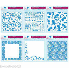 """DIE'SIRE EMBOSSALICIOUS HIGHLY DETAILED 6x6"""" EMBOSSING FOLDERS FOR CARDMAKING"""