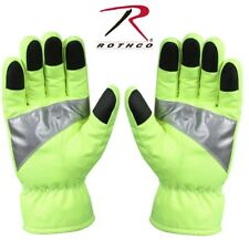 SAFETY GREEN Waterproof HI-VIS Work Gloves With Reflective Tape 5487