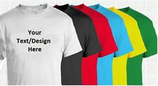 Custom Personalized T Shirt - YOUR TEXT - Black T Shirt White Text